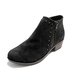 Minnetonka Moccasins 1519 - Women's Brie Boot - Black Suede