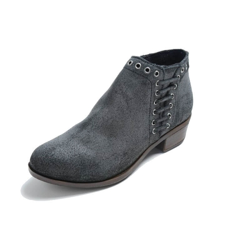 Minnetonka Moccasins 1531t - Women's Brenna Boot - Vintage Charcoal Suede