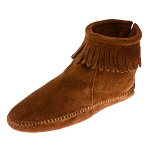 Minnetonka Moccasins 182 - Women's Softsole Ankle Boot - Brown Suede