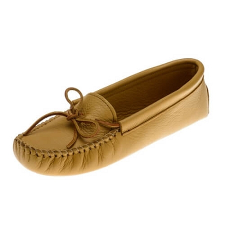Minnetonka Moccasins 216 - Women's Deerskin Softsole Moccasin - Natural