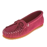 Minnetonka Moccasins 2405 - Childrens Kilty Moccasin - Hot Pink Suede