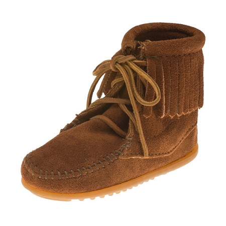Minnetonka Moccasins 2422 - Children's Ankle High Tramper Boot - Brown Suede