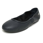Minnetonka Moccasins 259 - Women's Anna Flats - Black Leather