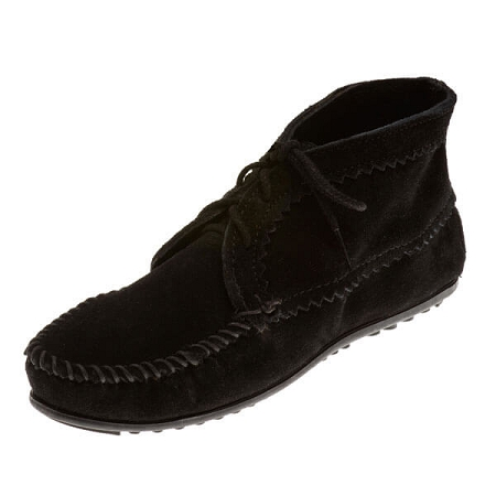 Minnetonka Moccasins 270 - Women's Ankle Boot - Black Suede