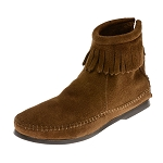 Minnetonka Moccasins 283 - Women's Hardsole Ankle Boot - Dusty Brown Suede