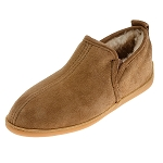 Minnetonka Moccasins 3731 - Men's Twin Gore Sheepskin Moccasin - Golden Tan