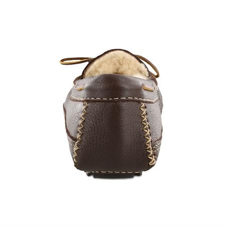 faa6529049f5ca ... Men s Sheepskin Lined Moosehide Slipper - Chocolate. Tap to expand. Minnetonka  Moccasins 3752