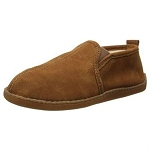 Minnetonka Moccasins 3922 - Men's Pile Lined Romeo Slipper - Brown Suede