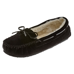 Minnetonka Moccasins 4010 - Women's Cally Slipper - Pile Lined - Black Suede