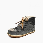 Minnetonka Moccasins 40144 - Women's Torrey - Pile Lined Boot Slipper - Grey