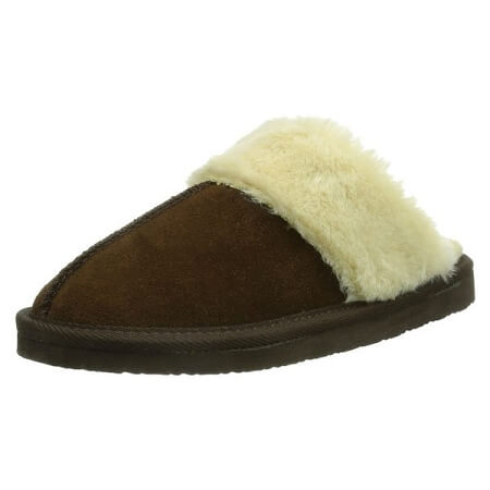 Minnetonka Moccasins 40882 - Women's Chesney Scuff - Chocolate