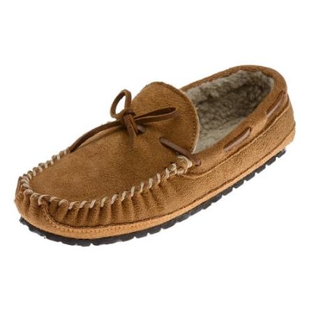 80cbb6c0480 Minnetonka Moccasins 4154 - Men s Casey Slipper - Pile Lined - Cinnamon  Suede