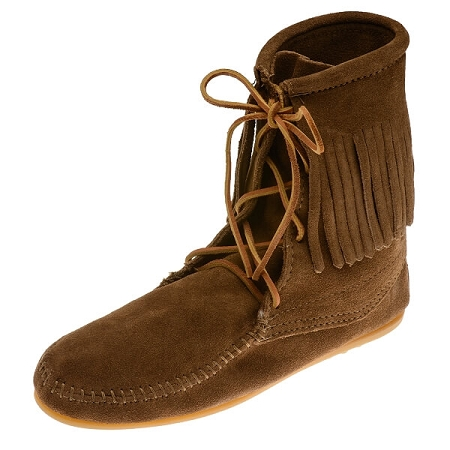 Minnetonka Moccasins 428 - Women's Ankle High Tramper Boot - Hardsole - Dusty Brown Suede