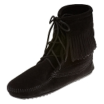 Minnetonka Moccasins 429 - Women's Ankle High Tramper Boot - Hardsole - Black