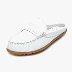 Minnetonka Moccasins 464 - Women's Kate Mule - White Leather