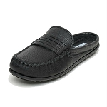 Minnetonka Moccasins 469 - Women's Kate Mule - Black Leather