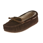 Minnetonka Moccasins 4812 - Children's Cassie Slipper - Chocolate Suede