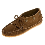 Minnetonka Moccasins 533 - Women's Fringed Moccasin - Dusty Brown Suede