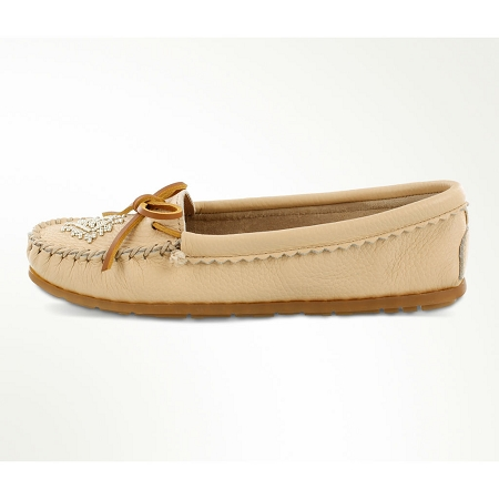 0e3327ca49f Minnetonka Moccasins 57 - Women s Deerskin Beaded Moccasin - Champagne. Tap  to expand. Minnetonka Moccasin 57