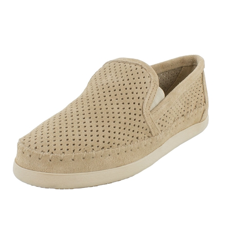 Minnetonka Moccasins 678P - Women's Pacific Sneaker Moccasin - Stone Suede