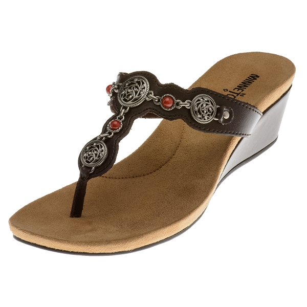 minnetonka moccasins 71105 brown greenwich sandal