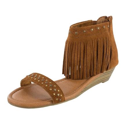Minnetonka Moccasins 71606 - Women s Brown Suede Savona Sandal f177a3323