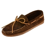 Minnetonka Moccasins 723 - Men's Rough Leather Softsole Moccasin - Brown