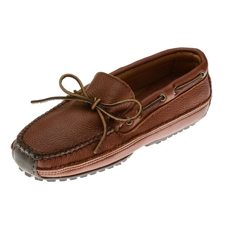 Minnetonka Moccasins 758 -Men's Moosehide Weekend Moccasin - Carmel