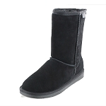 Minnetonka Moccasins 80060 - Women's Olympia Sheepskin / Wool Pug Boot - Black