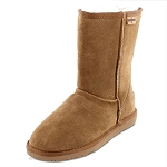 Minnetonka Moccasins 80061 - Women's Olympia Sheepskin / Wool Pug Boot - Golden Tan