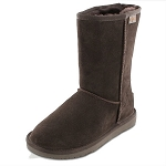 Minnetonka Moccasins 80062 - Women's Olympia Sheepskin / Wool Pug Boot - Chocolate