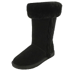 Minnetonka Moccasins 80070 - Women's Canyon Sheepskin / Wool Pug Boot - Black