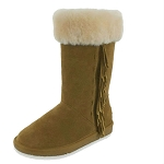 Minnetonka Moccasins 80071 - Women's Canyon Sheepskin / Wool Pug Boot - Golden Tan