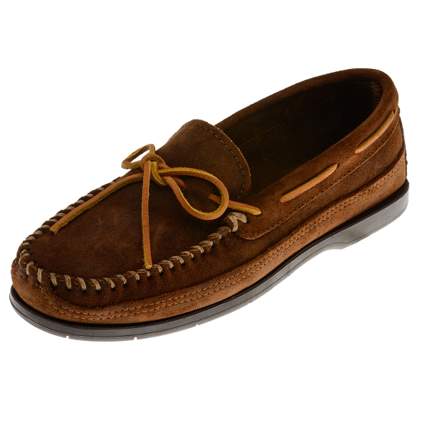 Minnetonka Moccasins 823 Men S Rough Leather Hardsole