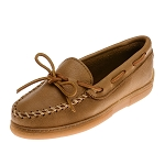 Minnetonka Moccasins 890 - Men's Moosehide Hardsole Moccasin - Natural