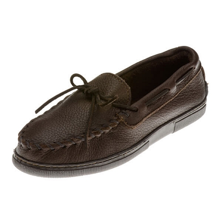 Minnetonka Moccasins 892 - Men's Moosehide Hardsole Moccasin - Chocolate