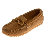 Minnetonka Moccasins 917T - Men's Classic Suede Moccasin - Taupe