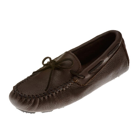 Minnetonka Moccasins 952 - Men's Moosehide Driving Moccasin - Chocolate