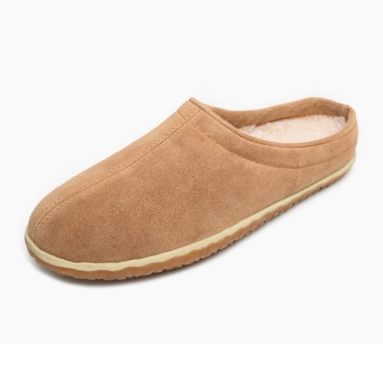 Minnetonka Moccasins 41011 - Men's Taylor Pile Lined Slipper - Cinnamon