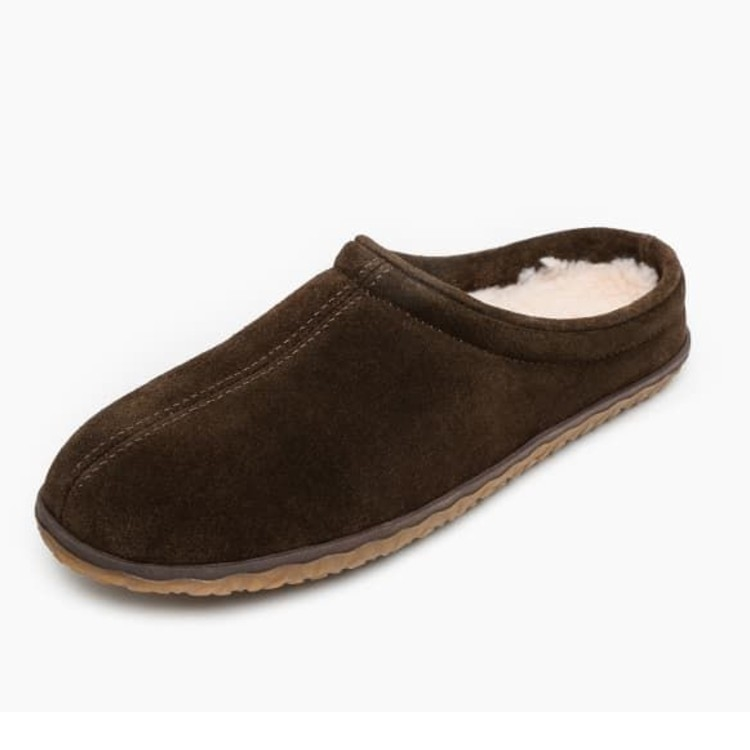 Minnetonka Moccasins 41012 - Men's Taylor Pile Lined Slipper - Chocolate
