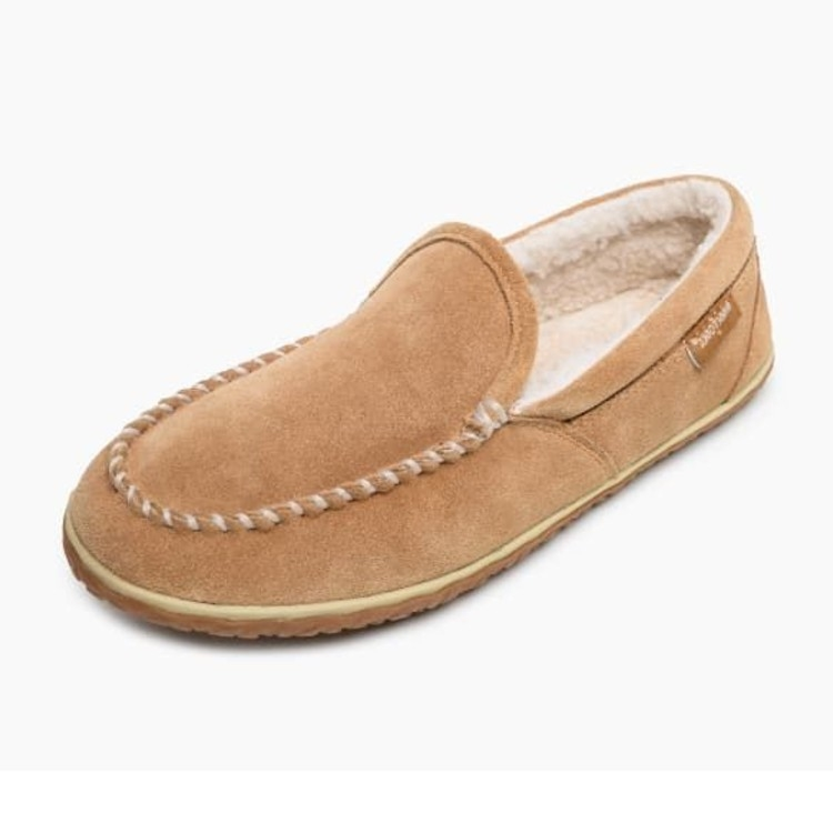 Minnetonka Moccasins 41001 - Men's Tilden Pile Lined Slipper - Cinnamon