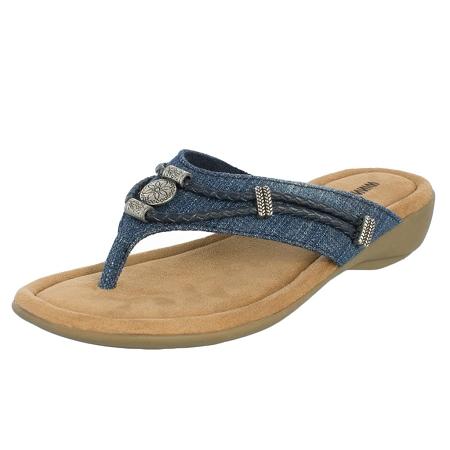 Minnetonka Moccasins 70000BLD - Women s Blue Denim Silverthorne Sandal 98aaedb7f