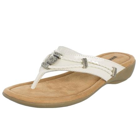 Minnetonka Moccasins 70000WHT - Women s White Silverthorne Sandal 7b8082cbb