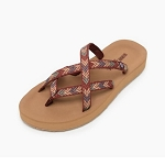 Minnetonka Moccasins 75002 - Hanna Sandal - Brown/Tan Multi Fabric