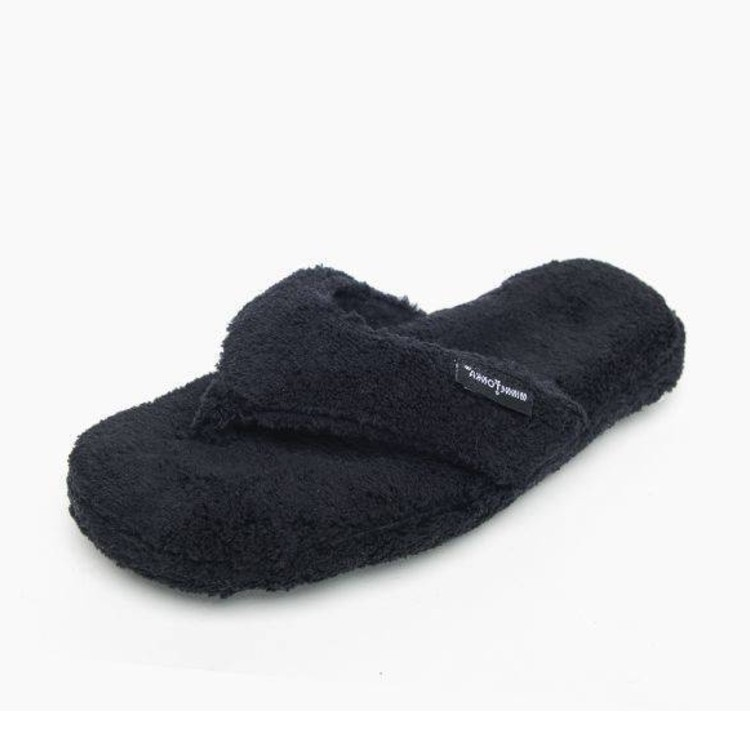Minnetonka Moccasins 44010 - Women's Olivia - Terry Cloth Slipper - Black