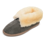 Minnetonka Moccasins 3355 - Women's Sheepskin Ankle Boot Slipper - Grey