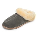 Minnetonka Moccasins 3365 - Women's Sheepskin Mule - Grey