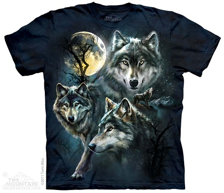 Moon Wolves Collage - 10-3309 - Adult Tshirt
