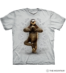 Namaste Sloth - 10-6287 - Adult Tshirt - Grey