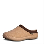 Old Friend Footwear - 340154 - Women's Sheepskin Curly Slipper - Chestnut